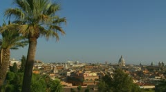 Rome landscape view (ideal for titles) 9 Stock Footage