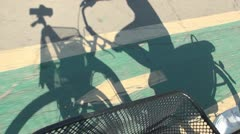 Shadow of a Bike, Bicycling Shadow Stock Footage