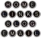 Stock Photo of vintage blog, home, links and email keys