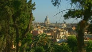 Outlook of the city of Rome 4 Stock Footage