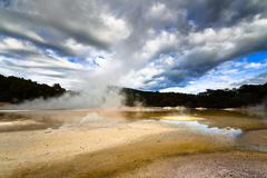 Geothermal landscape Stock Photos