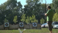 Stock Video Footage of Archery, Target