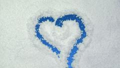 Snow heart Stock Footage