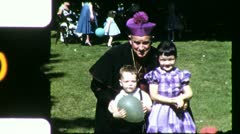 CATHOLIC PRIEST Children Kids 1945 Vintage Film Home Movie 5226 Stock Footage