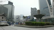 Seoul City Center, Central Area Road, Skyscrapers, Asia Shopping, South Korea Stock Footage