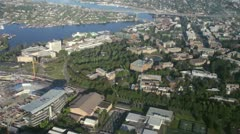 University of Washington Campus in Seattle - Aerial Stock Footage