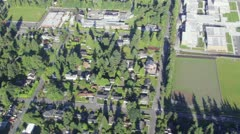 Aerial View of High School Campus - stock footage