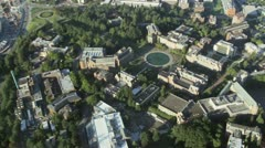 Overhead View of University of Washington Campus in Seattle Stock Footage