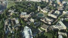 Overhead Näkymä University of Washington Campus Seattlessa Arkistovideo