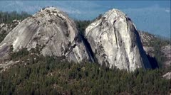 Granite Domes on Sierra Vista Scenic Byway, Sierra Nevada Mountains, California Stock Footage