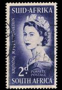 South africa postage stamp coronation 1953 Stock Illustration