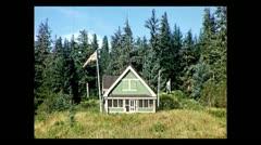 British Columbia Canadian border post 1939 Stock Footage