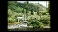 British Columbia crossing the cable ferry 1939 Stock Footage