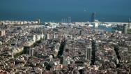 Beautiful skyline of Barcelona Stock Footage