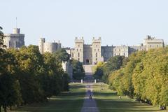 Windsor Castle in early evening sunshine - stock photo