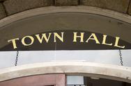 Town Hall entrance Stock Photos