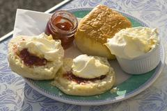 Cream tea anyone? - stock photo