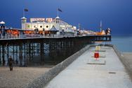 Brighton Pier Magic Light Stock Photos