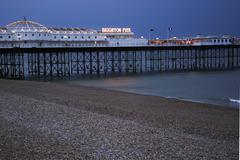 Brighton Pier in Magic Hour Stock Photos