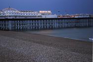 Brighton Pier in Magic Hour Stock Photos