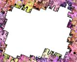 Rough edged bright colored grunge frame Stock Illustration