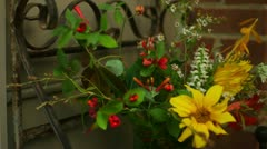 Preparing flower bouquet Stock Footage