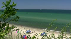 Summer at the Beach in Rerik - Baltic Sea, Northern Germany Stock Footage