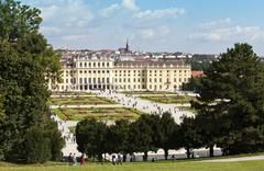 Stock Photo of Schoenbrunn Palace and Garden of Vienna