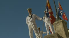 Italian Navy parade in Rome (10) slow motion Stock Footage