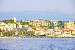 View of cannes from the sea Stock Photos