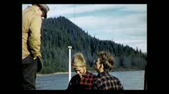 British Columbia taking pictures along the Stikine River 1939 Stock Footage