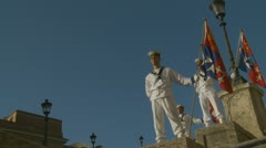 Italian Navy parade in Rome (9) Stock Footage