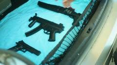 Blackmarket gun sales guns Stock Footage