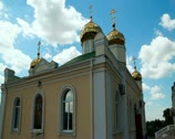 Stock Video Footage of Golden domes of the orthodox church