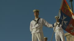 Italian Navy parade in Rome (7) Stock Footage