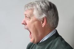 terrified older man.jpg - stock photo