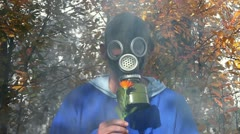 Gas mask Stock Footage