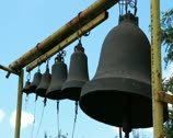 Stock Video Footage of Bells on church belfry