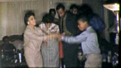 Black Family DANCE PARTY Home African American 1960 Vintage Film Home Movie 5231 Stock Footage