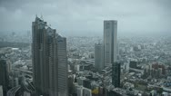 Aerial View of Shinjuku Skyscrapers in Tokyo, Modern Buildings Stock Footage
