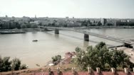 Stock Video Footage of Bridge over river Danube in Novi Sad, Serbia