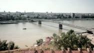 Bridge over river Danube in Novi Sad, Serbia Stock Footage