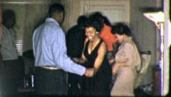 Black African American DANCE Club PARTY Dancing 1960s Vintage Film Movie 5233 - stock footage