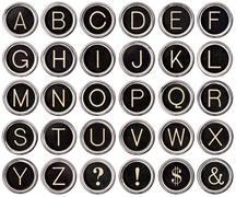 Stock Photo of vintage typewriter key alphabet
