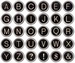 Stock Photo of vintage typewriter key alphabet