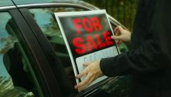 car for sale - stock footage