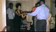 BLACK DANCE CLUB PARTY People Dancing Home 1970s Vintage Film Home Movie 5234 Stock Footage