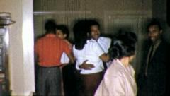 African American Black DANCE CLUB PARTY Fun 1960s Vintage Film Home Movie 5235 - stock footage
