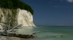 White Chalk Cliffs on Rügen Island in Germany Stock Footage