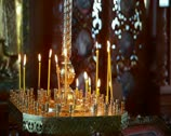Stock Video Footage of Wax candles in the orthodox church